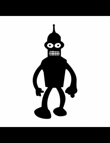 Bender - Adesivo Prespaziato - Futurama