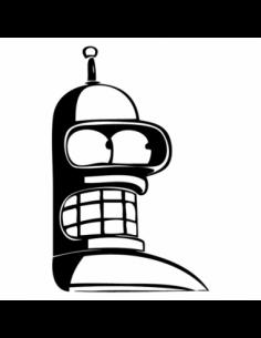 Bender - Futurama - Adesivo Prespaziato
