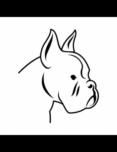 Cane Boxer - Adesivo Prespaziato