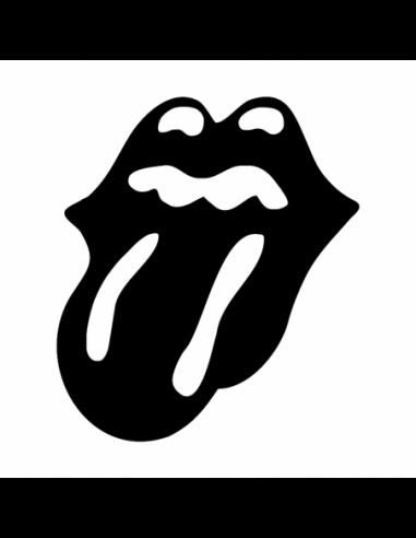 Lingua Rolling Stones - Adesivo Prespaziato