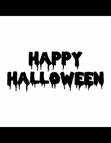 Scritta Happy Halloween - Adesivo Prespaziato