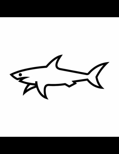 Squalo Paul & Shark - Adesivo Prespaziato